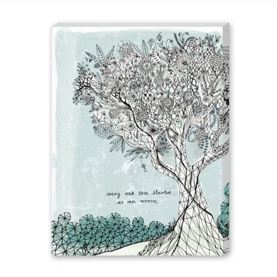Americanflat Every Oak Tree Graphic Art Wrapped on Canvas