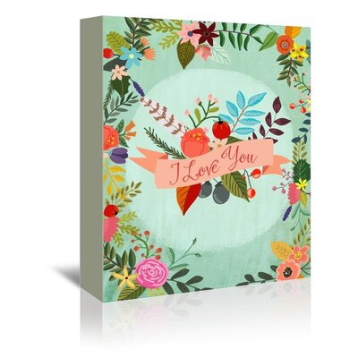 Americanflat I Love You Graphic Art Wrapped on Canvas