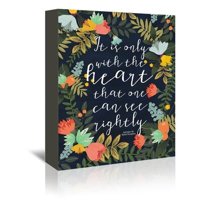 Americanflat 'It is only with the Heart' by Mia Charro Graphic Art Wrapped on Canvas