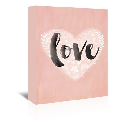 Americanflat Love Heart Graphic Art Wrapped on Canvas