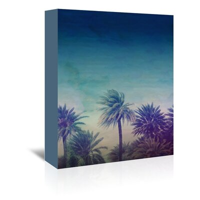 Americanflat Palm Tree Graphic Art Wrapped on Canvas