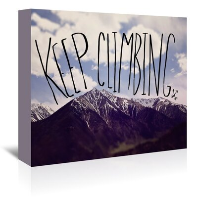 Americanflat Keep Climbing Graphic Art Wrapped on Canvas