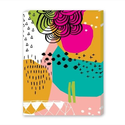 Americanflat Geometric Graphic Art Wrapped on Canvas