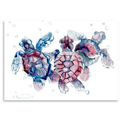 Americanflat 'Baby Sea Turtles' by Suren Nersisyan Graphic Art on Wrapped Canvas
