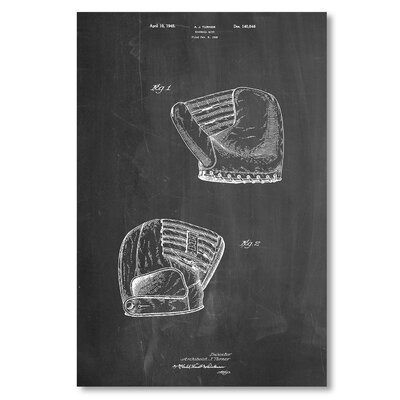 Americanflat 'Baseball Mit' by House of Borders Graphic Art on Wrapped Canvas