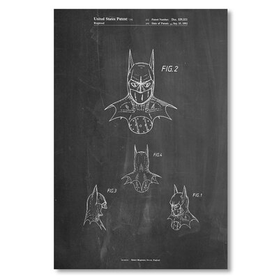 Americanflat 'Batman Mask' by House of Borders Graphic Art Wrapped on Canvas