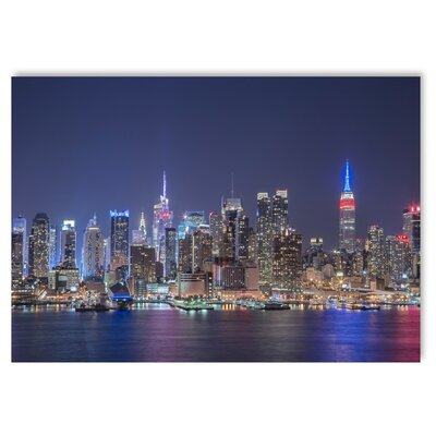 Americanflat 'Night Skylines' by Lina Kremsdorf Photographic Print on Wrapped Canvas