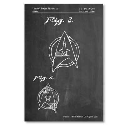 Americanflat 'Star Trek Logo' by House of Borders Graphic Art on Wrapped Canvas