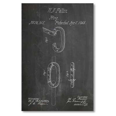 Americanflat 'Ring' by House of Borders Graphic Art on Wrapped Canvas
