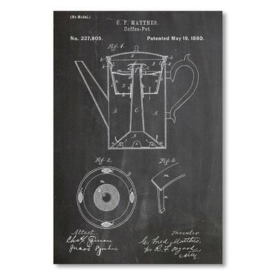Americanflat 'Coffee Pot' by House of Borders Graphic Art Wrapped on Canvas