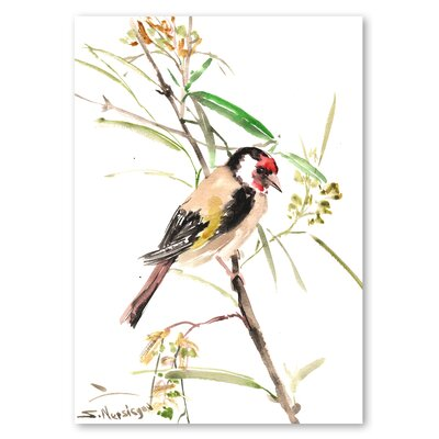 Americanflat 'Goldfinch Male' by Suren Nersisyan Painting Print on Wrapped Canvas