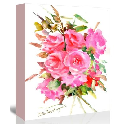 Americanflat Tea Roses' by Suren Nersisyan Graphic Art Wrapped on Canvas