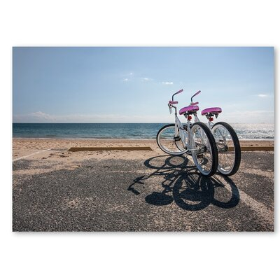 Americanflat 'Bicycles' by Lina Kremsdorf Photographic Print Wrapped on Canvas
