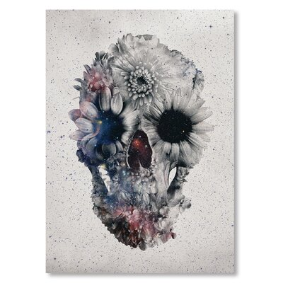 Americanflat 'Floral Skull II' by Ali Gulec Graphic Art on Wrapped Canvas