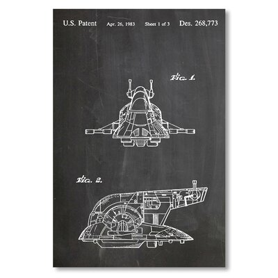 Americanflat 'Boba Fett's Ship' by House of Borders Graphic Art on Wrapped Canvas