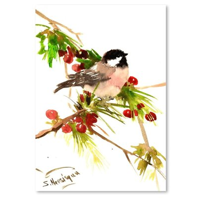 Americanflat 'Chickadee 1' by Suren Nersisyan Painting Print on Wrapped Canvas