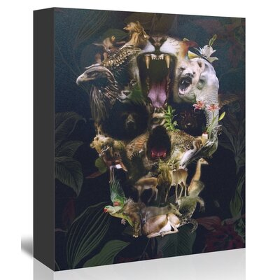 Americanflat Kingdom Skull Wall Graphic Art on Wrapped Canvas