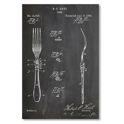 Americanflat 'Fork' by House of Borders Graphic Art on Wrapped Canvas