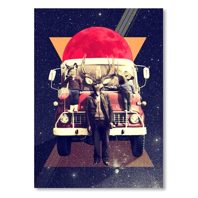 Americanflat 'El Camion' by Ali Gulec Graphic Art Wrapped on Canvas