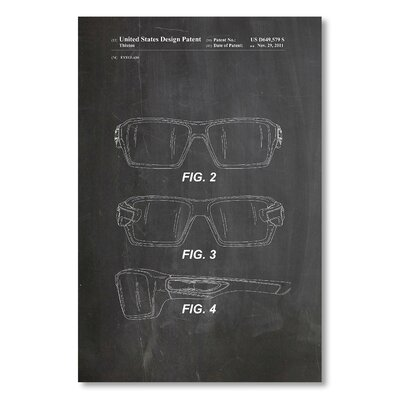 Americanflat 'Oakley Glasses I' by House of Borders Graphic Art on Wrapped Canvas