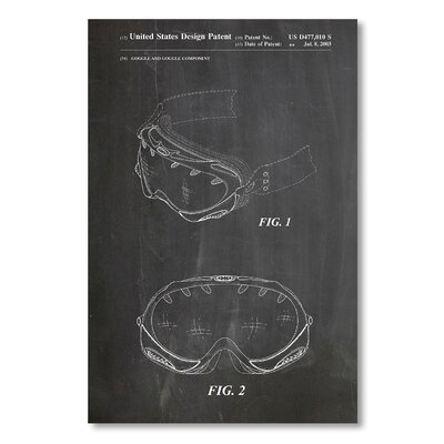 Americanflat 'Oakley Goggle' by House of Borders Graphic Art on Wrapped Canvas