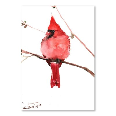 Americanflat 'Cardinal 4' by Suren Nersisyan Art Print Wrapped on Canvas