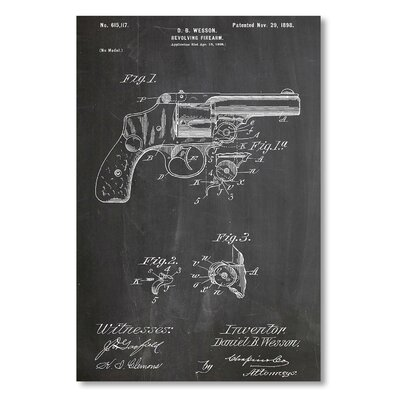 Americanflat 'Wesson Pistol 1898' by House of Borders Graphic Art on Wrapped Canvas
