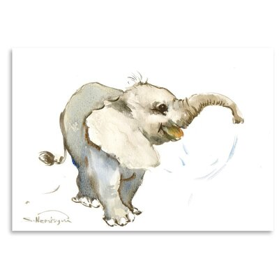 Americanflat 'Baby Elephant' by Suren Nersisyan Painting Print on Wrapped Canvas