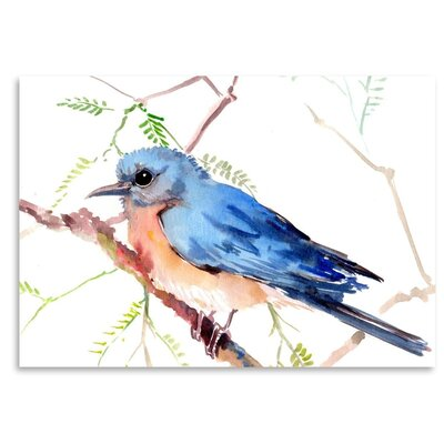 Americanflat Bluebird Art Print Wrapped on Canvas
