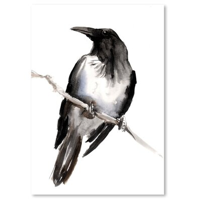 Americanflat 'Hodded Crow 3' by Suren Nersisyan Painting Print on Wrapped Canvas