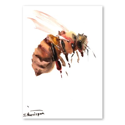 Americanflat 'Bee V' by Suren Nersisyan Art Print Wrapped on Canvas