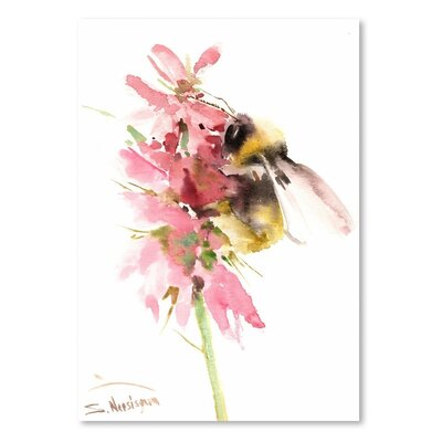Americanflat 'Honey Bee' by Suren Nersisyan Graphic Art on Wrapped Canvas