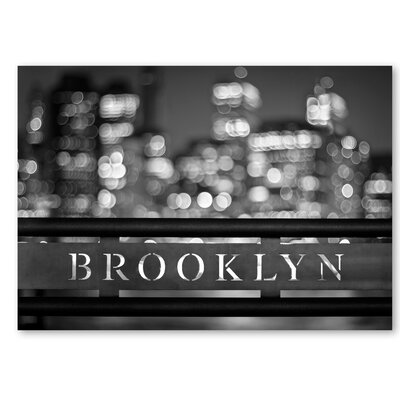 Americanflat 'Brooklyn' by Lina Kremsdorf Photographic Print on Wrapped Canvas in Grey