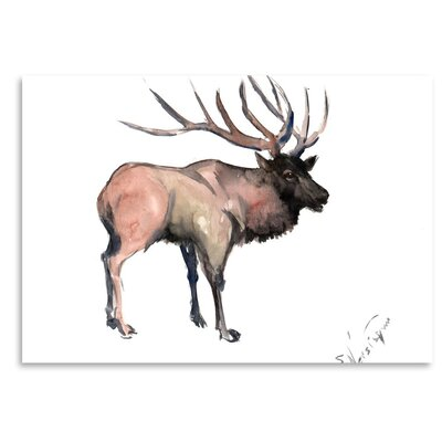 Americanflat 'Deer' by Suren Nersisyan Graphic Art on Wrapped Canvas