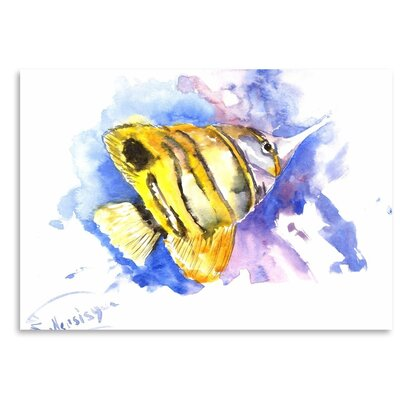 Americanflat 'Angelfish Copperhead' by Suren Nersisyan Graphic Art on Wrapped Canvas