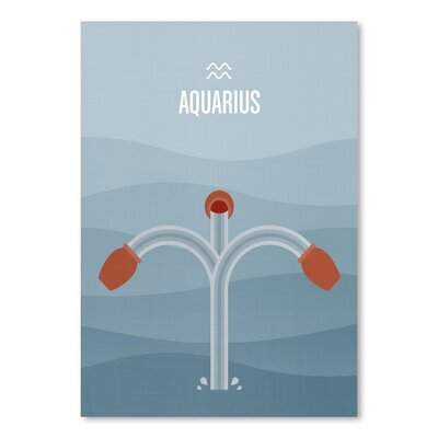 Americanflat Aquarius Graphic Art Wrapped on Canvas