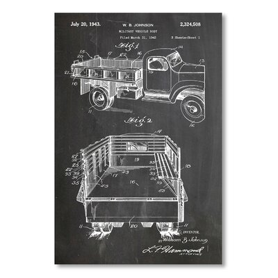 Americanflat 'Military Vehicle Body' by House of Borders Graphic Art Wrapped on Canvas