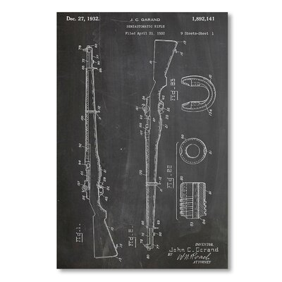 Americanflat 'M1 Rifle' by House of Borders Graphic Art on Wrapped Canvas