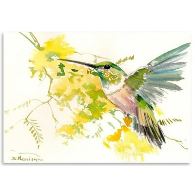 Americanflat 'Hummingbird 3' by Suren Nersisyan Painting Print on Wrapped Canvas