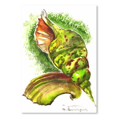 Americanflat 'Green Seashells' by Suren Nersisyan Painting Print on Wrapped Canvas