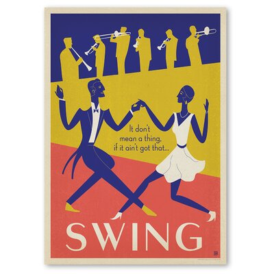 Americanflat 'Swing Dancing' by Music Festival Vintage Advertisement on Wrapped Canvas