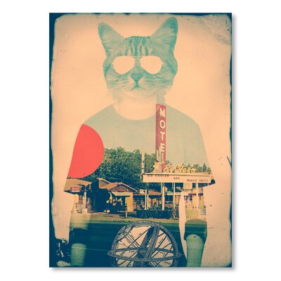 Americanflat 'The Cat' by Ali Gulec Graphic Art Wrapped on Canvas