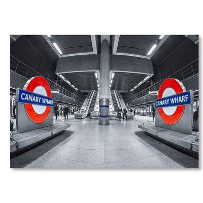 Americanflat Canary Wharf Photographic Print on Wrapped Canvas
