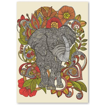 Americanflat 'Bo the Elephant' by Valentina Ramos Graphic Art on Wrapped Canvas