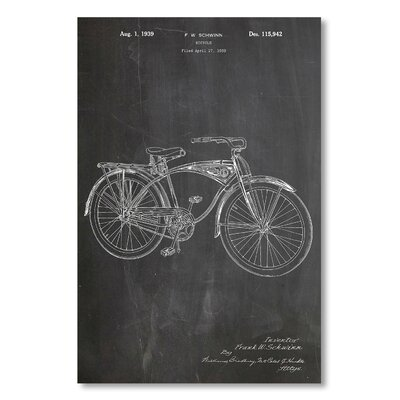 Americanflat 'Schwinn Bike' by House of Borders Graphic Art Wrapped on Canvas