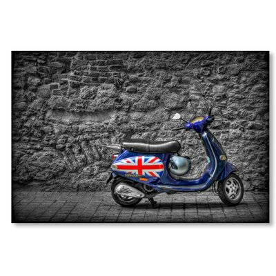 Americanflat 'Scooter England' by Lina Kremsdorf Photographic Print on Wrapped Canvas