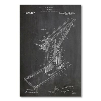 Americanflat 'Catapult' by House of Borders Graphic Art on Wrapped Canvas