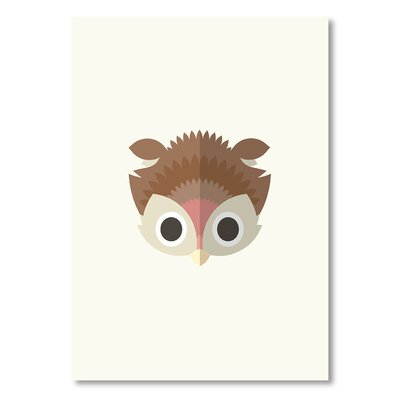 Americanflat 'Owl' by Christian Jackson Graphic Art on Wrapped Canvas