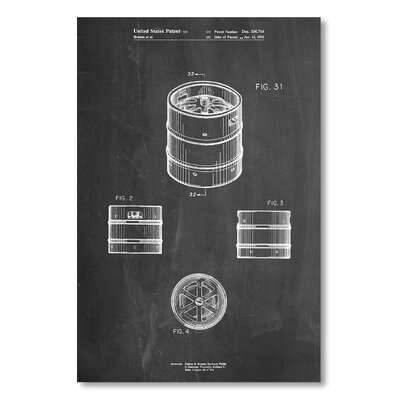 Americanflat 'Beer Keg' by House of Borders Graphic Art on Wrapped Canvas