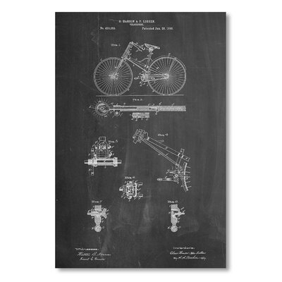 Americanflat 'Bicycle 1890' by House of Borders Graphic Art on Wrapped Canvas